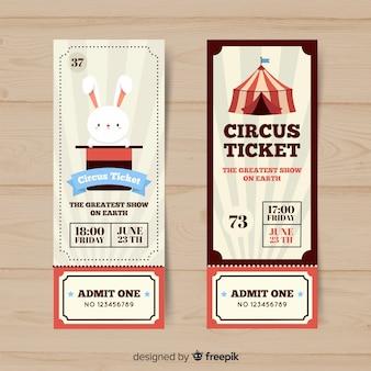 Platte circus ticket sjabloon