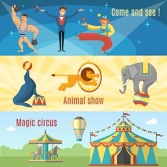 Platte circusbanners