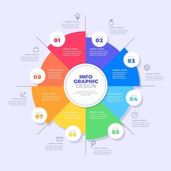 Platte cirkeldiagram infographic