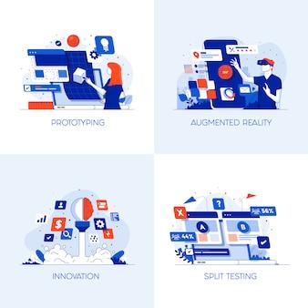 Platte conceptuele pictogrammen