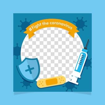 Platte coronavirus facebook frame