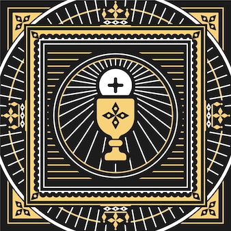 Platte corpus christi illustratie