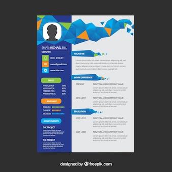 Platte curriculummalplaatje met geometrisch ontwerp