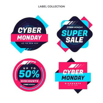 Platte cyber maandag labels collectie