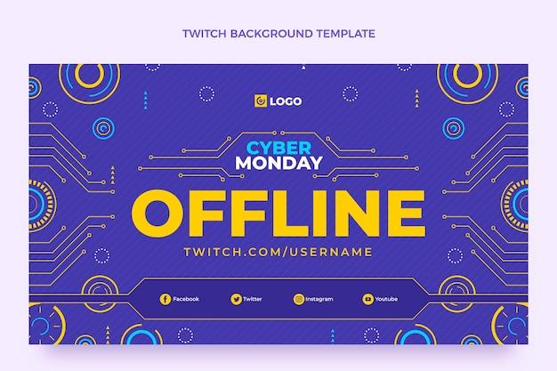 Platte cyber maandag twitch achtergrond