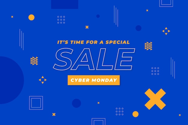 Platte cyber maandag verkoop achtergrond