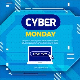 Platte cyber maandag verkoop illustratie