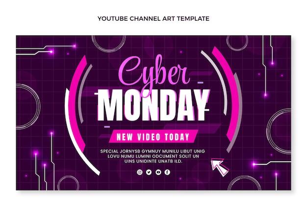 Platte cyber maandag youtube-kanaalafbeeldingen