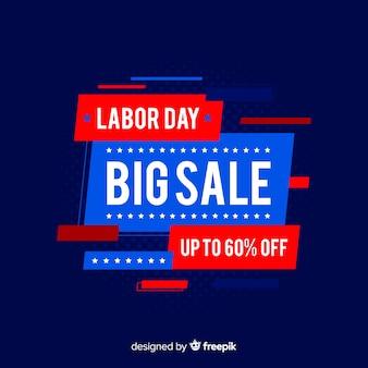 Platte dag van de arbeid verkoop achtergrond