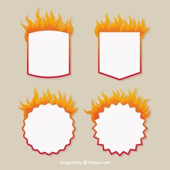 Platte design-brandetiket / -badcollectie