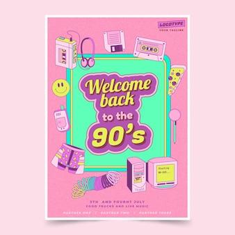 Platte design nostalgische jaren 90 covers