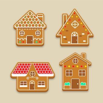 Platte design peperkoek huis collectie