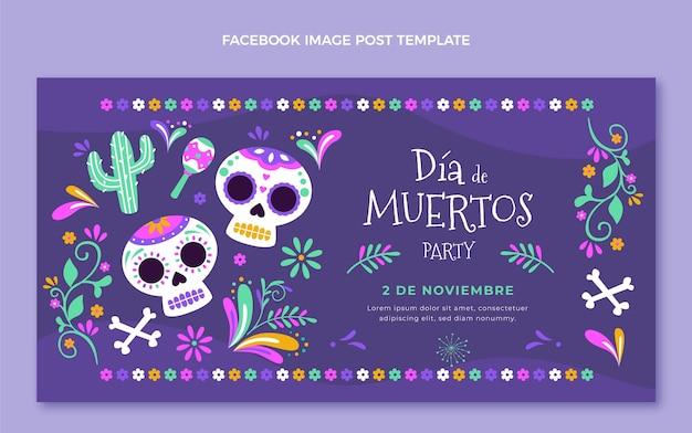 Platte dia de muertos social media postsjabloon
