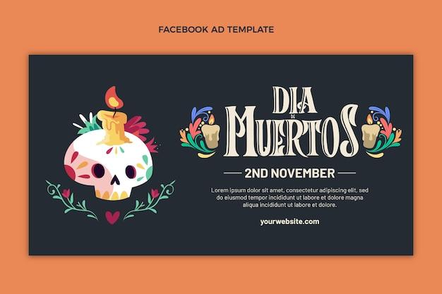 Platte dia de muertos social media promo sjabloon