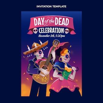 Platte dia de muertos uitnodigingssjabloon