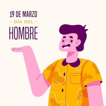 Platte dia del hombre illustratie
