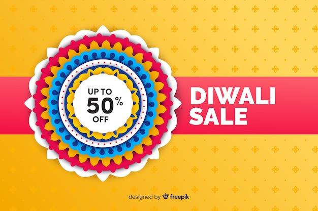 Platte diwali verkoop met korting
