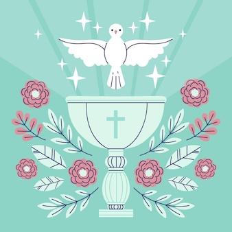 Platte doop concept illustratie