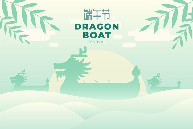 Platte drakenboot illustratie