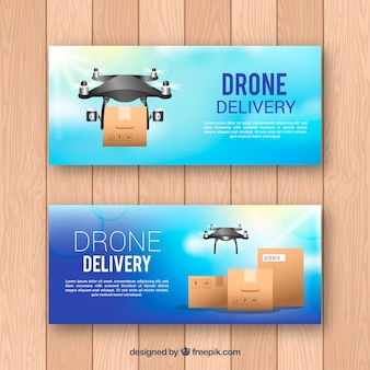 Platte drone-banners
