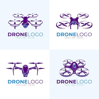 Platte drone logo-set