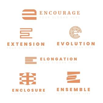 Platte e logo sjabloonverzameling