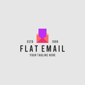Platte e-mail minimalistische logo-ontwerpinspiratie