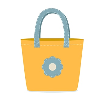 Platte eco-vriendelijke stoffen tas