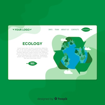 Platte ecologie bestemmingspagina sjabloon