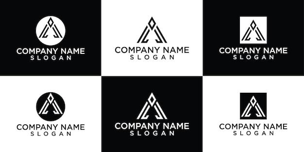 Platte een logo-ontwerpsjablonen