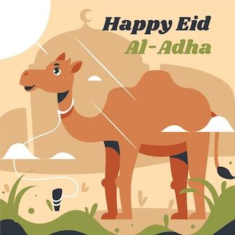Platte eid al-adha illustratie
