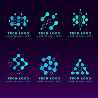 Platte elektronica-logo's instellen
