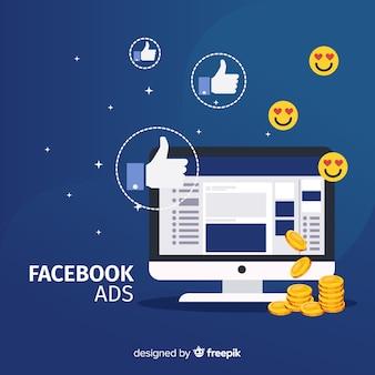 Platte facebook advertenties achtergrond