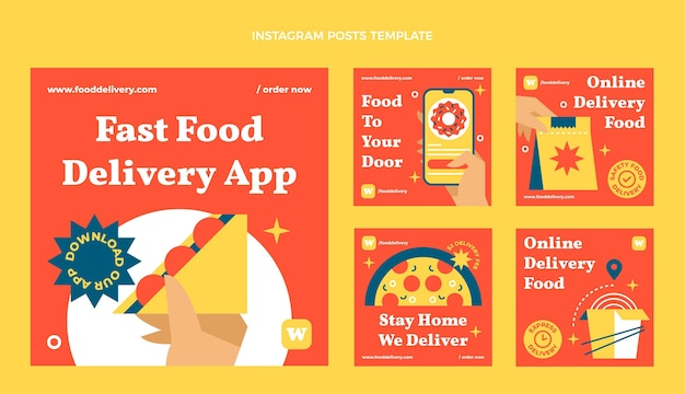 Platte fastfood instagram-post