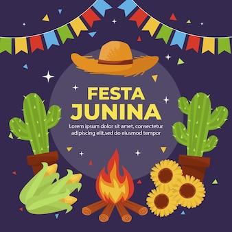 Platte festa junina illustratie