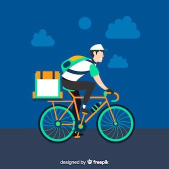Platte fiets levering concept