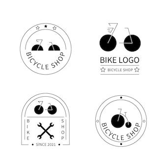Platte fiets logo collectie