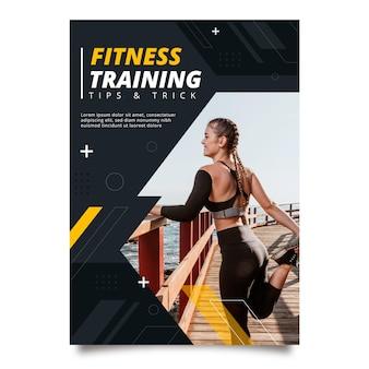 Platte fitness verticale flyer-sjabloon