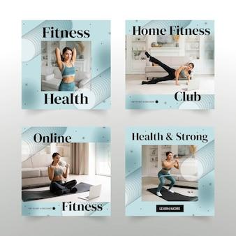 Platte fitnesspostset met foto