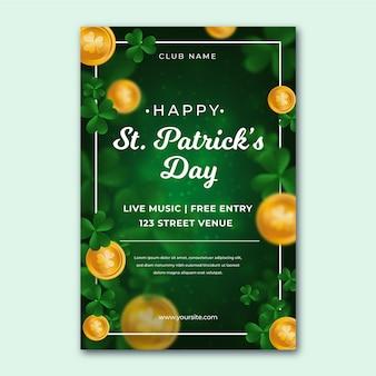 Platte flyer voor st. patrick's day sjabloon