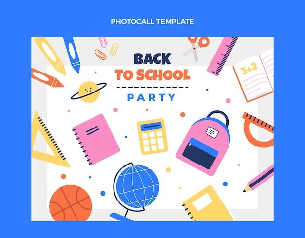 Platte fotocall-sjabloon voor terug naar school