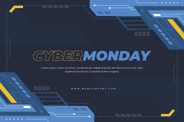 Platte futuristische cyber maandag achtergrond