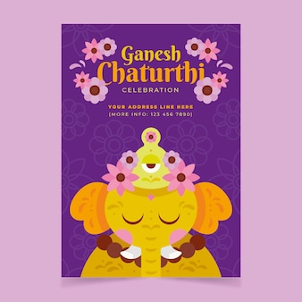 Platte ganesh chaturthi poster