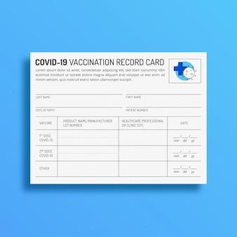 Platte gegevenskaart voor vaccinatie tegen coronavirus
