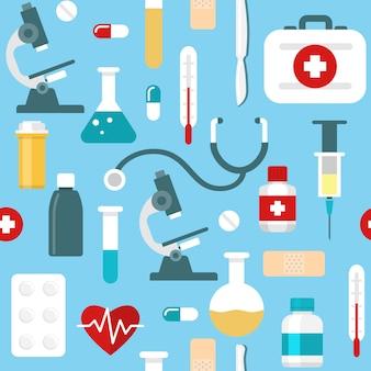 Platte geneeskunde patroon