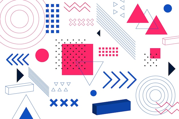 Platte geometrische modellen achtergrond