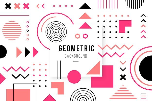 Platte geometrische vormen achtergrond