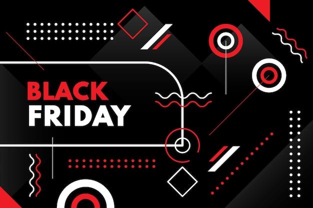 Platte geometrische zwarte vrijdag achtergrond