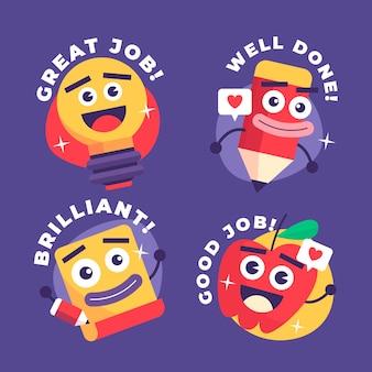 Platte goede baan stickers set