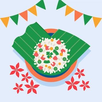 Platte gopalkala-illustratie
